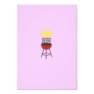 Queen of the grill 9 cm x 13 cm invitation card