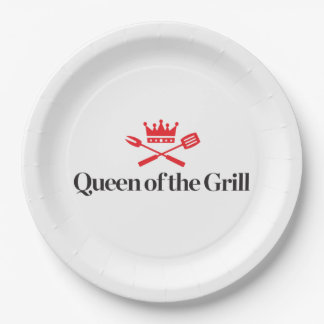 Queen of the Grill 9 Inch Paper Plate