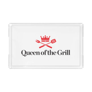 Queen of the Grill Acrylic Tray