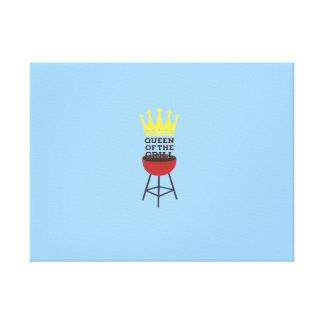 Queen of the grill canvas prints