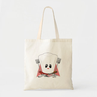 Queen of the Grill - Chef s Hat BBQ Tools Tote Bags