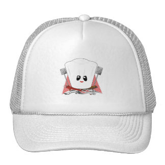 Queen of the Grill - Chef's Hat & BBQ Tools Trucker Hats