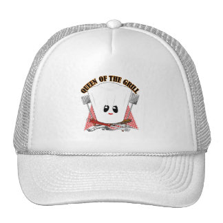 Queen of the Grill - Chef's Hat & BBQ Tools Trucker Hat