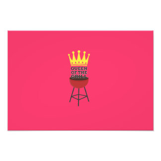 Queen of the grill photo print