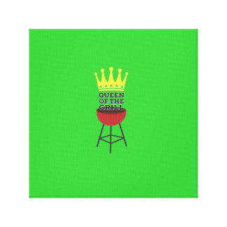 Queen of the grill stretched canvas prints