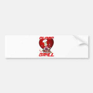 Queen of the Grill-White Bumper Sticker