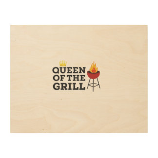 Queen of the grill wood canvases