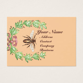 QUEEN OF THE HONEY BEES  IN SKEP / BEEKEEPER BUSINESS CARD