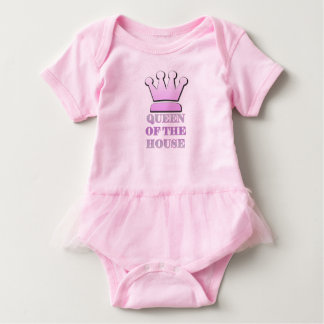 Queen of the House Baby Tutu Baby Bodysuit