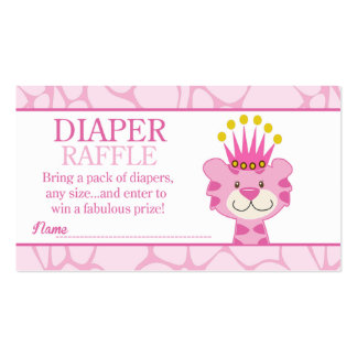 Queen of the Jungle Baby Shower Diaper Raffle Pack Of Standard Business Cards