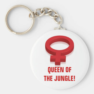 QUEEN OF THE JUNGLE! BASIC ROUND BUTTON KEY RING