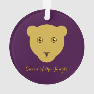 """Queen of the Jungle"" Lioness Ornament"