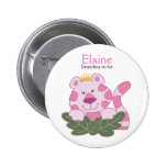 QUEEN OF THE JUNGLE NAME TAG Personalised Button