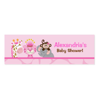 Queen of the Jungle Skinny Business Card Favor Tag