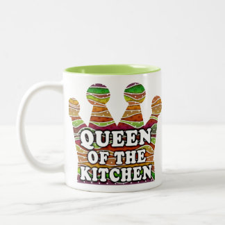 QUEEN OF THE KITCHEN AUTUMN STRIPES MUGS