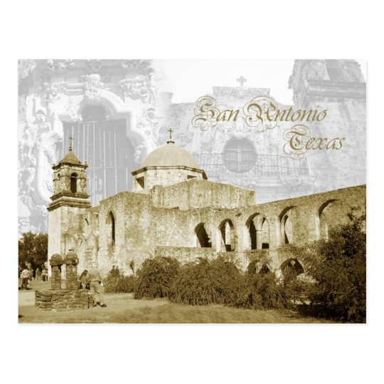 Queen of the Missions, San Antonio, Texas Postcard