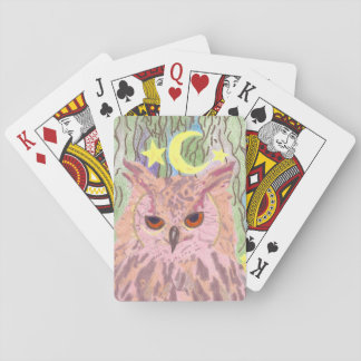 Queen of the Night Girly Owl Playing Cards