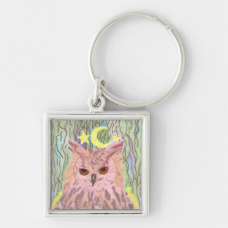 Queen of the Night Girly Owl Premium Keychain