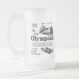 Queen of The Rails - New Olympian 1929 Frosted Glass Mug