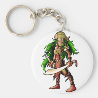 Queen of the seas basic round button key ring