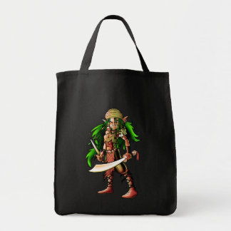 Queen of the seas grocery tote bag