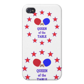 Queen of the Table Ping Pong iPhone 4 Cases