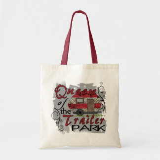 Queen of the trailer park funny grocery bag