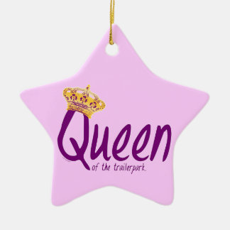 Queen of the Trailerpark Ceramic Star Decoration