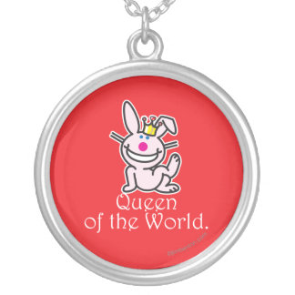 Queen Of The World Silver Plated Necklace