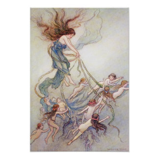 Queen of Them All by Warwick Goble Poster
