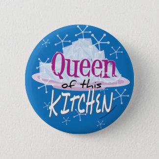 Queen of this Kitchen 6 Cm Round Badge