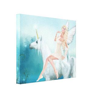 Queen of Unicorns Canvas Print
