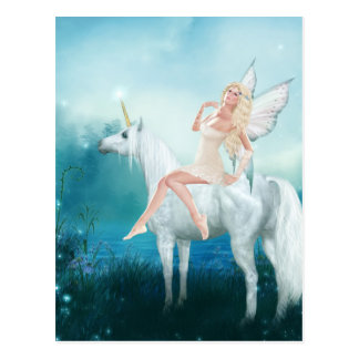 Queen of Unicorns Postcard