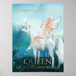 """""""Queen of Unicorns"""" Poster"""