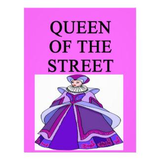 queen of wall street flyer design