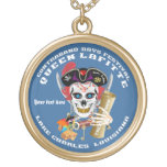 Queen Pirate Lafitte Round View About Design Custom Necklace