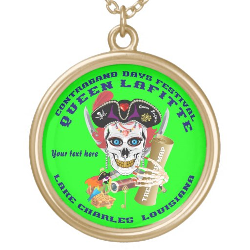 Queen Pirate Lafitte Round View About Design Necklace