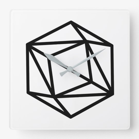 Queen (positive) / Square Wall Clock