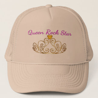 Queen Rockstar  Rose  Gold Hat