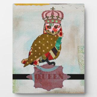 Queen Rose Owl Vintage  Plaque
