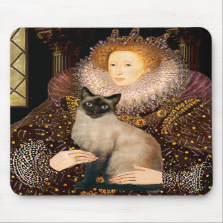 Queen- Seal Point Siamese cat Mouse Pads