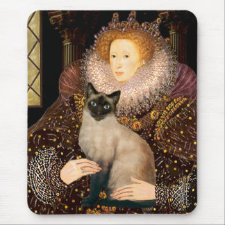 Queen- Seal Point Siamese cat Mouse Pad