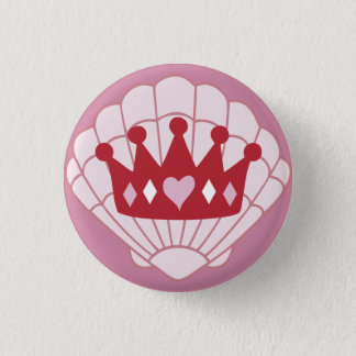 Queen SeaShell Crown button