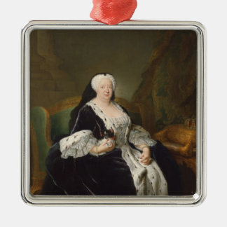 Queen Sophia Dorothea of Hanover Silver-Colored Square Decoration