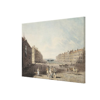 Queen Square, London, 1786 (w/c and pen and ink ov Canvas Print