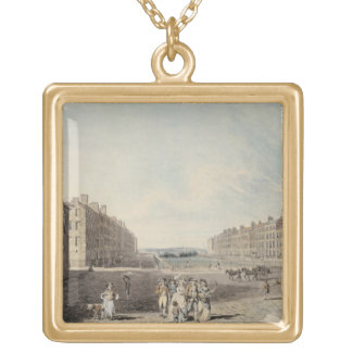 Queen Square, London, 1786 (w/c and pen and ink ov Custom Necklace