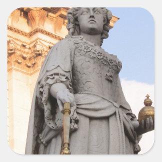 Queen Statue Square Sticker