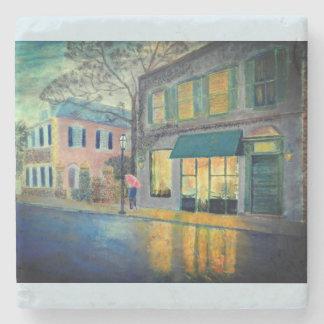 Queen Street Charleston SC Stone Coaster