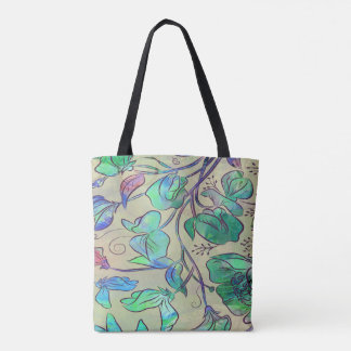 Queen Sweet Pea - greens - tote