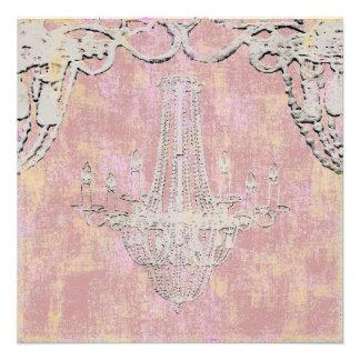 Queen Vibes Chandelier Invitation Linen Paper